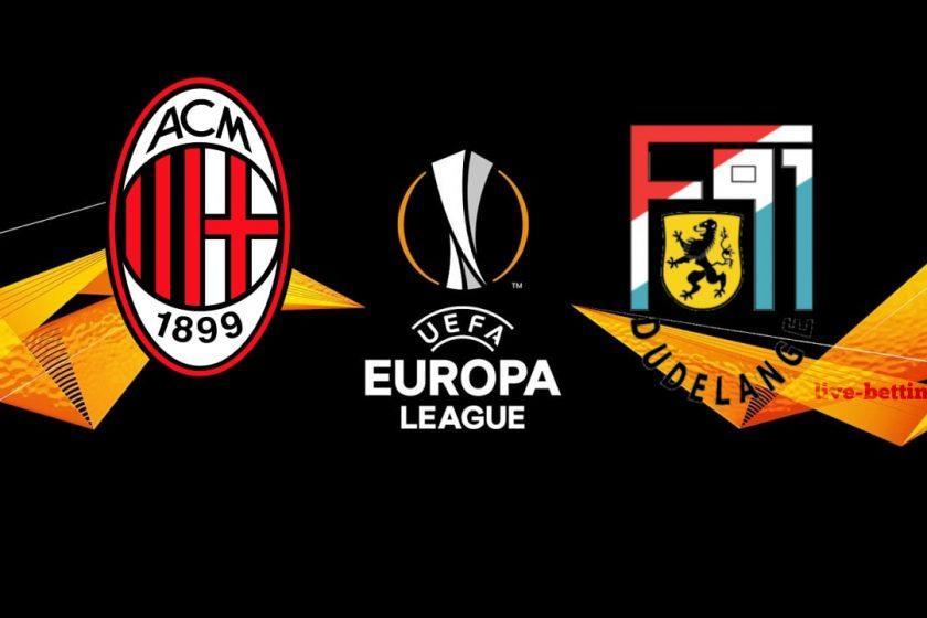 AC Milan vs Dudelange Europa League